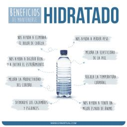 Beneficios mantenerse hidratado